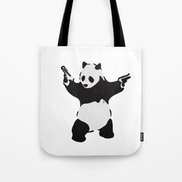 Banksy Pandamonium Armed Panda Artwork, Pandemonium Street Art, Design For Posters, Prints, Tshirts Tote Bag