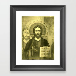 Pop Jesus (RGB) Framed Art Print