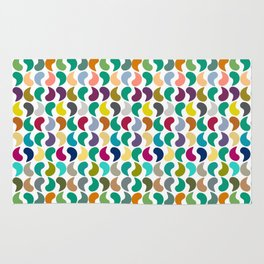 Seamless Colorful Geometric Shapes Pattern II Rug
