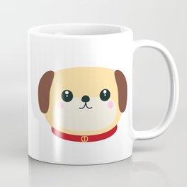 Cute puppy Dog with red collar Coffee Mug