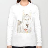 husky Long Sleeve T-shirts featuring Husky by Lee Watson