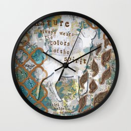 Nature Spirit Wall Clock