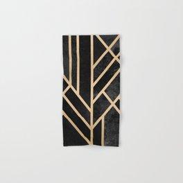 Art Deco Black Hand & Bath Towel