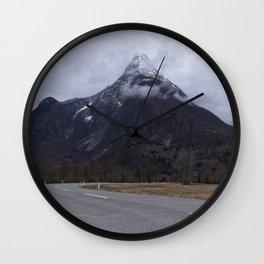 Road Towards Mangart Mountain Wall Clock