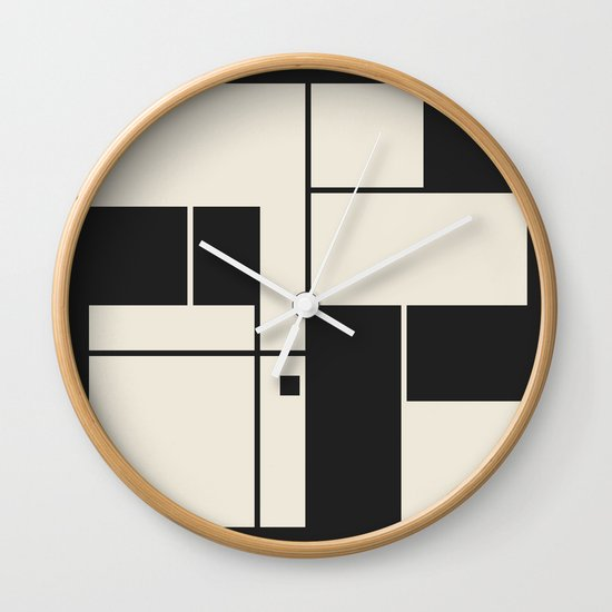 De Stijl / Bauhaus series 1 Wall Clock by Jamie Harrington ...