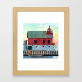 Grand Haven Outer lighthouse Focus Framed Art Print