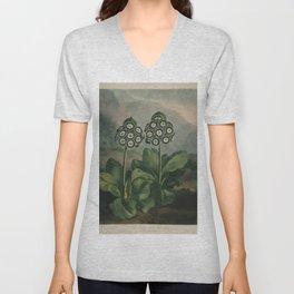 Botanical Auriculas Unisex V-Neck