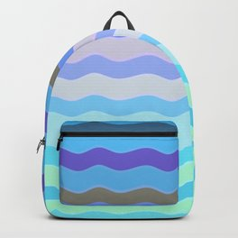 Bright Blue Bars Backpack