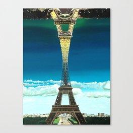 Paris Night and Day (print) Canvas Print