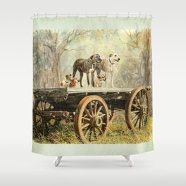 Country Dogs Shower Curtain
