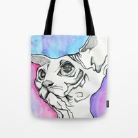 psych Tote Bags featuring Psych Sphinx by Szilvia Lucas