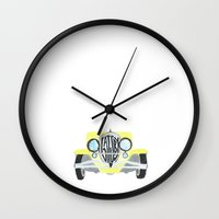 the great gatsby Wall Clocks featuring Gatsby by S. L. Fina