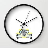 gatsby Wall Clocks featuring Gatsby by S. L. Fina