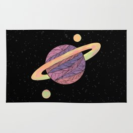 Pink and Purple Ultraviolet Planet Rug