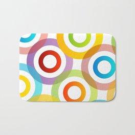 Colorful circles in vibrant colors Bath Mat