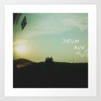 drum Art Prints featuring DruM Bun by Missy Hen