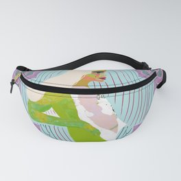 Space Girl Bold Colors Design Fanny Pack