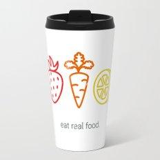 Eat Real Food. (light) Travel Mug