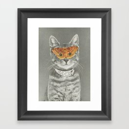 The cat's eyes have it Framed Art Print