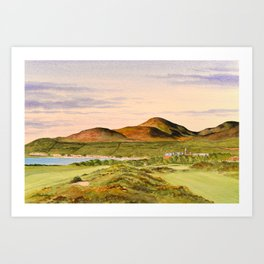 Royal County Down Golf Course Art Print