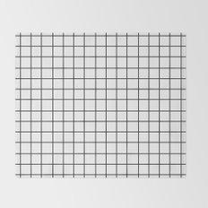Grid (Black/White) Throw Blanket