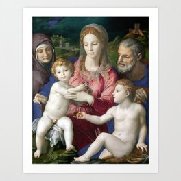 Agnolo di Cosimo, called Bronzino Holy Family with St. Anne and the Infant St. John Art Print