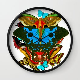 BUTTERFLIES - The Colors of the Nature Wall Clock