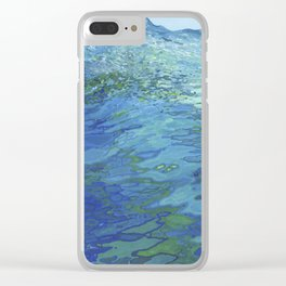 Effervescent Waves 1 Clear iPhone Case
