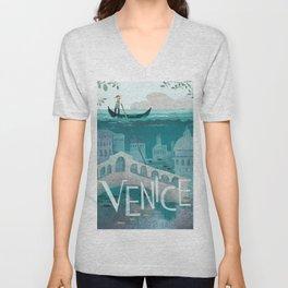 Vintage poster - Venice Unisex V-Neck