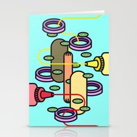 hot dog Stationery Cards featuring Hot dog by Jan Luzar