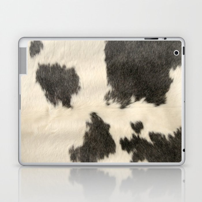 Black & White Cow Hide Laptop & iPad Skin