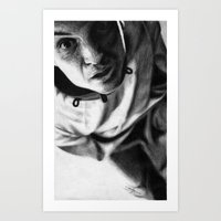 moriarty Art Prints featuring Moriarty by Cécile Pellerin