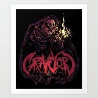 dark souls Art Prints featuring Dark Souls - Gravelord Nito by Shamfoo