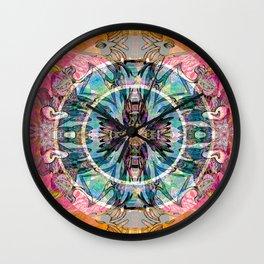 Ancestral Healing Mandala Wall Clock