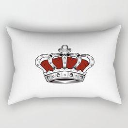 Crown - Red Rectangular Pillow