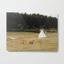 Salida Teepee Deer Metal Print