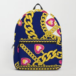 Gold Chains and Jewelry Backpack