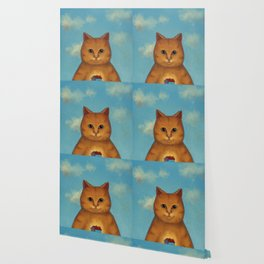 Every Cat need a Home. Ginger Cat Illustration Wallpaper