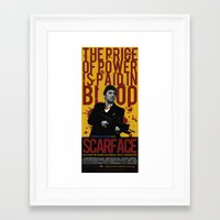 scarface Framed Art Prints featuring Scarface by Arinesart