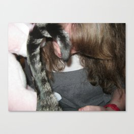Rocco's Tail and Mama's Hair Canvas Print