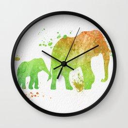 Elephants 020 Wall Clock