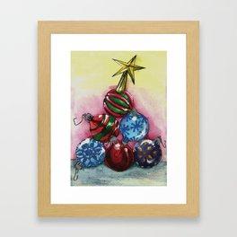 Tree of Ornaments Framed Art Print