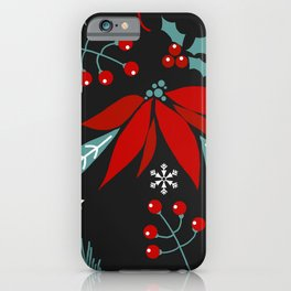 christmas flowers iPhone Case