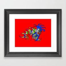 Raja-Red Framed Art Print