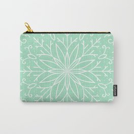 Single Snowflake - Mint Green Carry-All Pouch