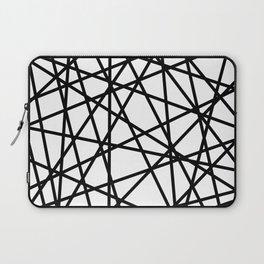 Lazer Dance Black on White Laptop Sleeve