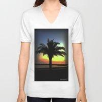 palm V-neck T-shirts featuring Palm by Chris' Landscape Images & Designs