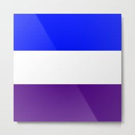 TEAM COLORS 8..Blue, white , purple Metal Print