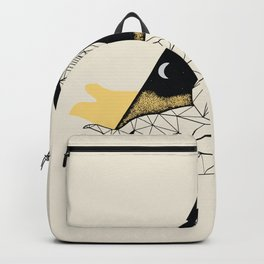 Abstract linear cobra illustration Backpack