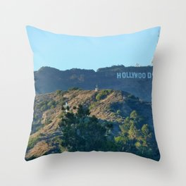 Hills of Hollywood Throw Pillow